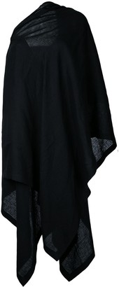 Yohji Yamamoto Off-Shoulder Cloak Dress