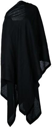 Yohji Yamamoto off-shoulder cloak dress