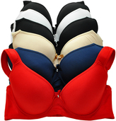Angelina Red & Navy Padded Full-Fit Convertible T-Shirt Bra Set - Plus Too