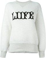 Sacai printed sweatshirt