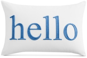 "Charter Club Damask Designs Word 12"" x 18"" Decorative Pillow, Created for Macy's Bedding"