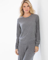 Soma Intimates Cashmere/Wool Blend Tipped Sweater