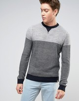 Tokyo Laundry Textured Color Block Knitted Sweater