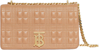 Burberry Small Soft Leather Crossbody Bag in Soft Camel | FWRD