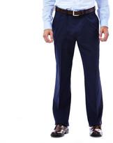 Haggar Traveler Twill Stripe Slacks - Straight Fit, Flat Front, Flex Waistband