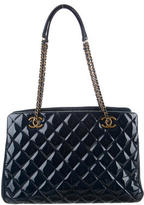 Chanel Glazed Quilted Shopping Tote