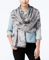 INC International Concepts Tranquil Scale Jacquard Wrap & Scarf in One, Only at Macy's