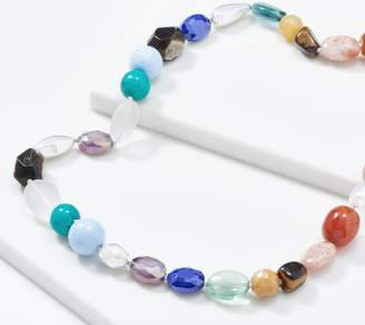 "Simon Sebbag Sterling Silver Multi-Gemstone 39"" Necklace"