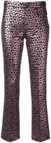 Giamba metallic straight trousers