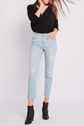 Flying Monkey Faria Distressed Cropped Straight Leg Jeans