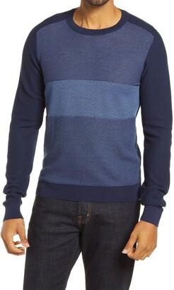Robert Barakett Lakeshore Wool Blend Crewneck Sweater