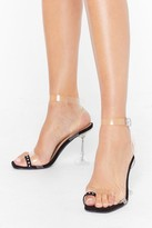 Nasty Gal Womens Bling Your Outfit Toe-gether Clear Heels - black - 3