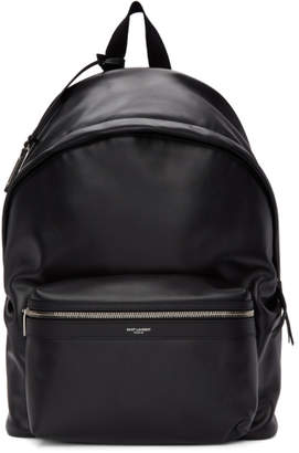 Saint Laurent Black Matte City Backpack