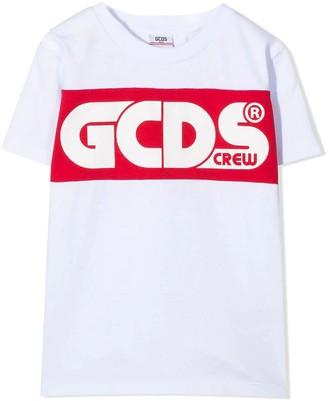 GCDS White Cotton T-shirt