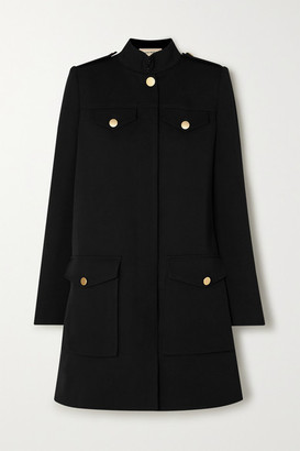 Alexander McQueen Oversized Wool And Silk-blend Twill Cape - Black