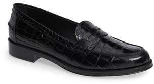 Tod's Classic Croc Embossed Penny Loafer