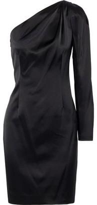 Elie Tahari Nikita One-shoulder Satin Mini Dress