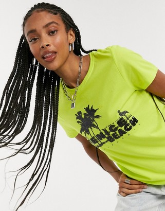 Only kitti short sleeve t-shirt in lime