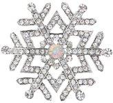 Mundi Rhinestone Snowflake Brooch Pin Tone Finish