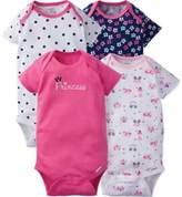 Gerber ONESIES® 4-Pack Princess Short Sleeve Bodysuits
