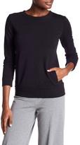 Norma Kamali Long Sleeve Crew Neck Sweatshirt