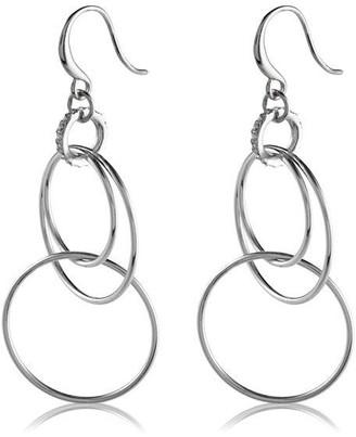 Pilgrim Earrings : Fire : Silver Plated : Crystal
