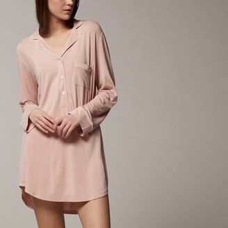 Love & Lore Love And Lore Piped Sleep Shirt Rose Extra-Large