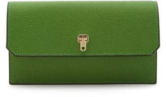 Valextra Grained-leather Continental Wallet - Womens - Green