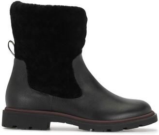 Bally Faux Fur Trim Ankle Boots