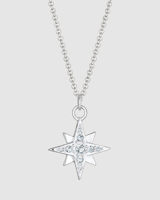 Elli Jewelry Necklace Star Astro Pendant Sparkling Spiritual with Swarovski& Crystals in 925 Sterling Silver