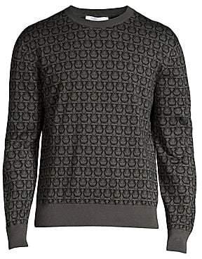 Salvatore Ferragamo Men's Gancini Crewneck Sweater
