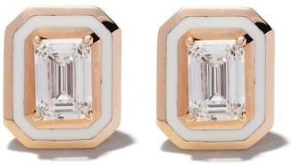 Selim Mouzannar 18kt Pink Gold Diamond Earrings