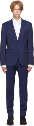 HUGO Blue Virgin Wool Astian/Hets Suit
