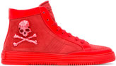 Philipp Plein skull and crossbones hi-top sneakers - men - Calf Leather/Leather/rubber - 42