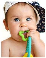 Nuby Chewy Charms Neutral/Star and Triangle Silicone Teether