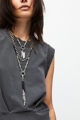 Free People Emery Wide Link Pendant Necklace