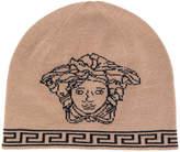 Versace Medusa intarsia beanie hat