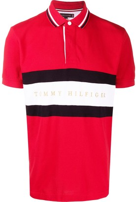 Tommy Hilfiger Striped Print Polo Shirt