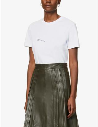Designers Remix #15 text-print upcycled cotton-blend T-shirt