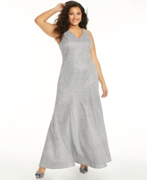 Sequin Hearts Trendy Plus Size Glitter-Knit Mermaid Gown