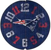 New England Patriots Vintage Round Clock
