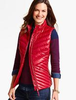 Talbots Cire Chevron-Quilted Puffer Vest