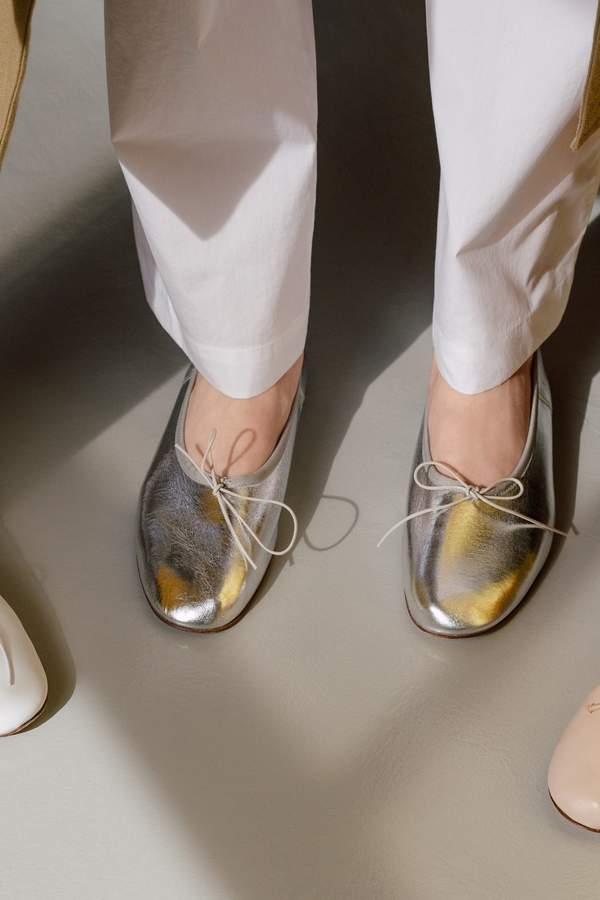 Mansur Gavriel Lamb Ballerina - Silver