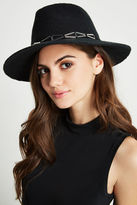 BCBGeneration Metal-Trim Panama Hat - Black