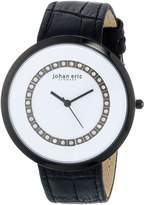 Johan Eric Women's JE5002-13-007 Vejle Analog Display Quartz Black Watch