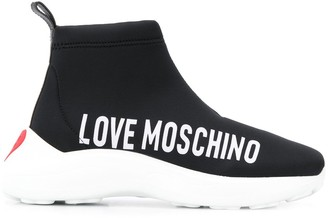 Love Moschino Hi-Top Logo Sneakers