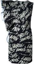 Lanvin logo sleeveless dress - women - Cotton/Polyamide/Spandex/Elastane - 38
