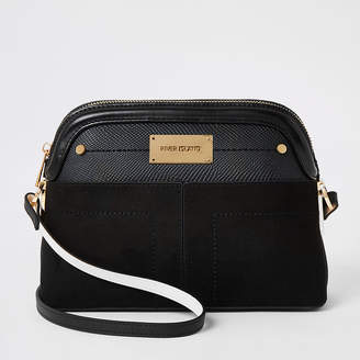 River Island Black pocket front cross body bag
