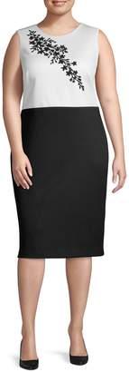 Calvin Klein Collection Plus Colorblock Sheath Dress