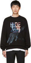 Juun.J Black hide Yourself Sweatshirt